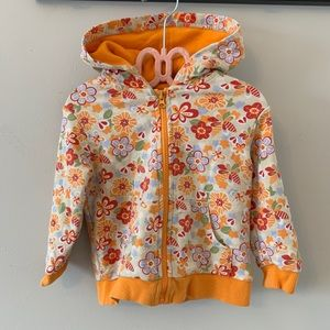 Other - 5/$20 Orange, floral, zip up, hoodie